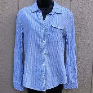 BDG UO Blue & White striped button down size Small